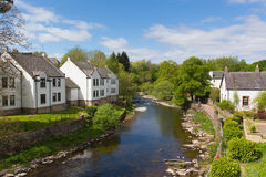 Dunblane town Scotland UK view of the Allan Water river in summer Stock Photo