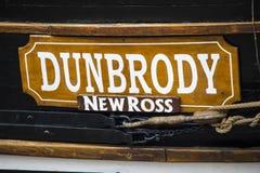Dunbrody repliki głodu statek w Nowym Ross fotografia royalty free