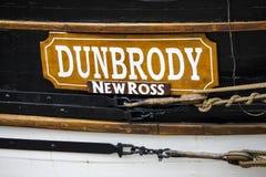 Dunbrody repliki głodu statek w Nowym Ross zdjęcia royalty free
