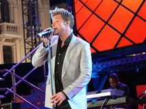 Duncan James performing at Festivalbar Stock Images