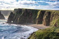 Duncansby Bay,  Northern Scotland Royalty Free Stock Photo