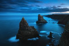 Duncansby Stacks - northern Scotland, John o`Groats area stock images