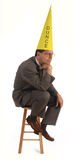 The dunce royalty free stock photography