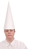 Dunce cap on Woman Royalty Free Stock Photography