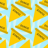 Dunce hat seamless background design Stock Image