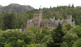 Duncraig castle stock photos