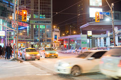 Dundas Square Intersection in Toronto,Canada Royalty Free Stock Image