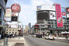 Dundas Square - Toronto stock photography