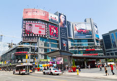 Dundas Square West during the day Stock Photo