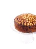Dundee cake. On white background Royalty Free Stock Photos