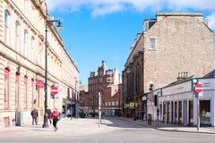 Dundee Centrum Miasta zaciszność dla Soboty popołudnia w Szkocja fotografia royalty free