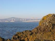 Dundee et pont en route de Tay, Ecosse Image libre de droits