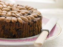 Dundee-Kuchen auf einer Platte Stockfotografie