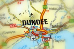 Dundee, Scotland, United Kingdom U.K. - Europe. Dundee, officially the City of Dundee, a Scotland`s city stock images