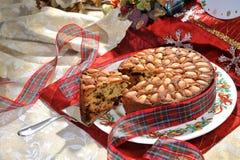 Dundee tort z migdałami Fotografia Royalty Free