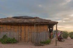 DUNDO/ANGOLA - 23 APRIL 2015 - African rural community, Angola. Royalty Free Stock Images