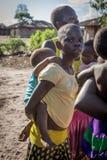 DUNDO/ANGOLA - 23 2015 KWIECIEŃ - Ekspresyjny portret afrykanin ru Fotografia Stock