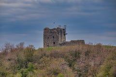 Dundonald Castle Under Renovation South Ayrshire Scotland. Dundonald, Scotland, UK - April 14, 2019: The town of Dundonlad in South Ayrshire has this ancient stock photo