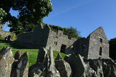 Dundrum Castle ruins stock photo