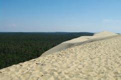 Dune. Top of pilat dune on atlantic coast in france Stock Photos
