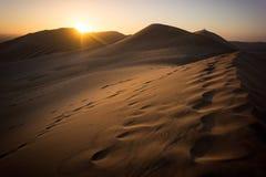 Dune 7. Sunset at Dune 7 near Walvis Bay in Namibia Stock Photos