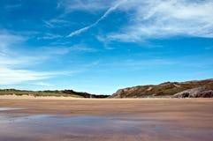 Dune & spiaggia di sabbia di Broadhaven Fotografie Stock