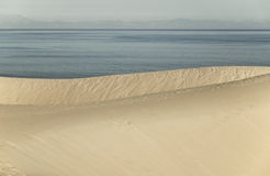Dune and atlantic ocean in spanish coastline. Cadiz. Spain Stock Photos