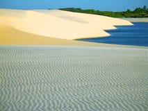 Dune avec la lagune Images libres de droits