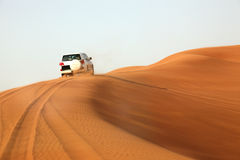 Dune bashing in the desert Stock Images