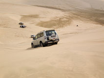 Dune bashing in the desert Stock Image