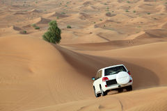 Dune bashing in Dubai Stock Photos
