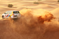 Dune bashing in Dubai Stock Photography