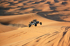 Dune bashing with a dune buggy stock images