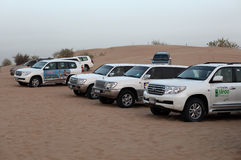 Dune bashing offroad cars, Dubai Royalty Free Stock Image
