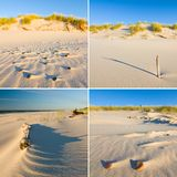 Dune on Beach at Sunset - Collage Stock Photography