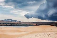 Dune bianche in Mui Ne, Vietnam Fotografie Stock Libere da Diritti
