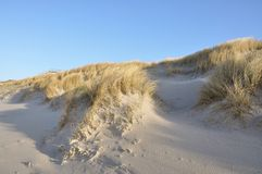 Dune. With blue sky at Sylt near Westerland Royalty Free Stock Photos