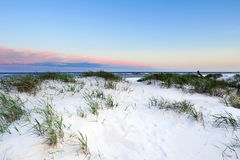 Dune on Bornholm island, Denmark. Dune during sunset on Bornholm island, Denmark, Europe stock photography