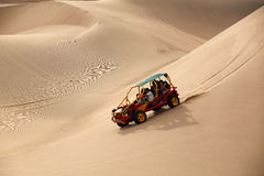 Dune buggy in a desert near Huacachina, Ica, Peru. Stock Photography