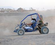 Dune Buggy in desert scene Stock Photography