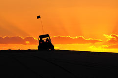 Dune buggy in the Golden light Stock Photography