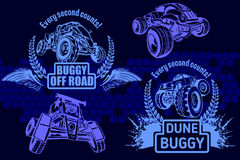 Dune buggy and monster truck - vector badge. Dune buggy and monster truck - vector illustration Stock Image
