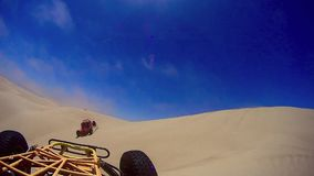 Dune Buggy Sand and Clouds Pismo Beach Ca. Dune Buggy Sand Dunes Pismo Beach Ca stock footage