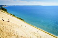 Dune climb Royalty Free Stock Photos