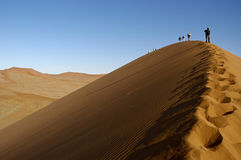Dune climbers Stock Image