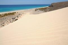 Dune on the coast of Fuerteventura Stock Photos