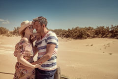 Dune couple summertime stock images