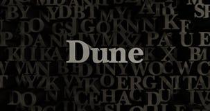 Dune - 3D rendered metallic typeset headline illustration Royalty Free Stock Images