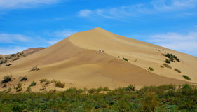 Dune de chant dans Kazakhstan Photo stock