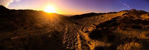 Dune de coucher du soleil Photos libres de droits